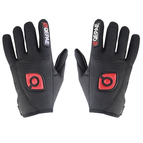 Buy Qepae Cycling Bicycle / Motorcycle Monster Outdoor Sports Nylon Gloves, Size: M, Black for $4.44 in SUNSKY store