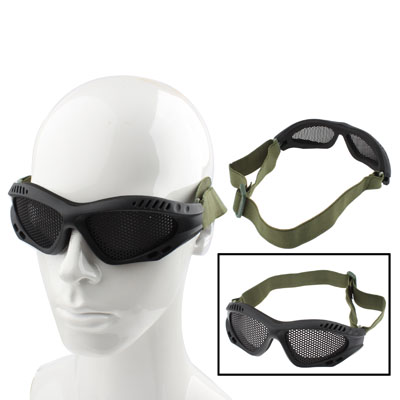 Buy Outdoor Protective Goggles No Fog Steel Mesh Glasses, Black for $2.97 in SUNSKY store