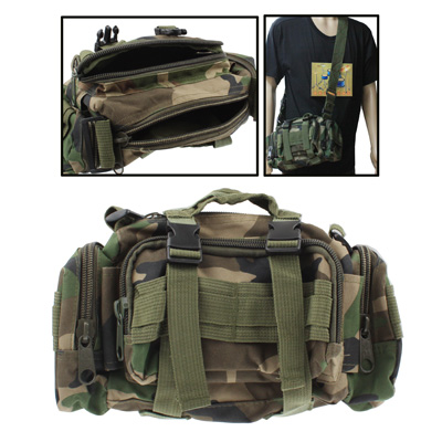 Buy Utility Nylon Waterproof Molle Tactical Camouflage 3-Way Carrying (Waist / Shoulder / Hand) Camera Pouch Bag with Detachable Strap for $5.54 in SUNSKY store