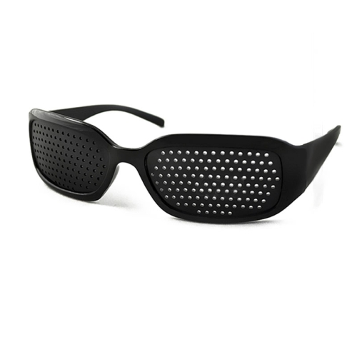 Buy Outdoor Protective Goggles Mesh Glasses Eyes Health Care Vision Care Pinhole Glasses, Black for $1.24 in SUNSKY store
