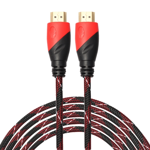 Buy 5m HDMI 1.4 Version 1080P Nylon Woven Line Red Black Head HDMI Male to HDMI Male Audio Video Connector Adapter Cable for $2.92 in SUNSKY store