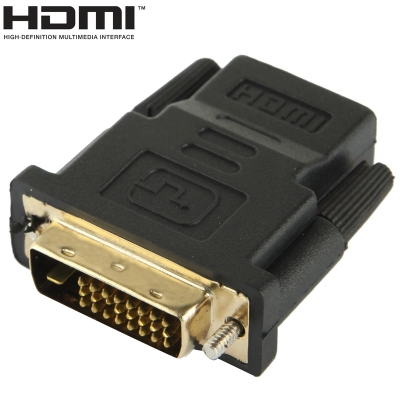 DVI-D 24+1 Pin Male to HDMI 19 Pin Female Adapter for Monitor / HDTV
