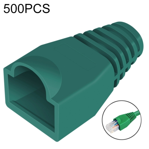 Buy 500 pcs Network Cable Boots Cap Cover for RJ45, Green for $3.39 in SUNSKY store