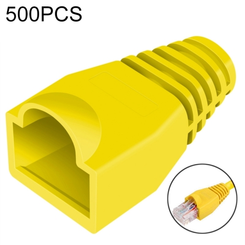 Buy 500 pcs Network Cable Boots Cap Cover for RJ45, Yellow for $3.72 in SUNSKY store