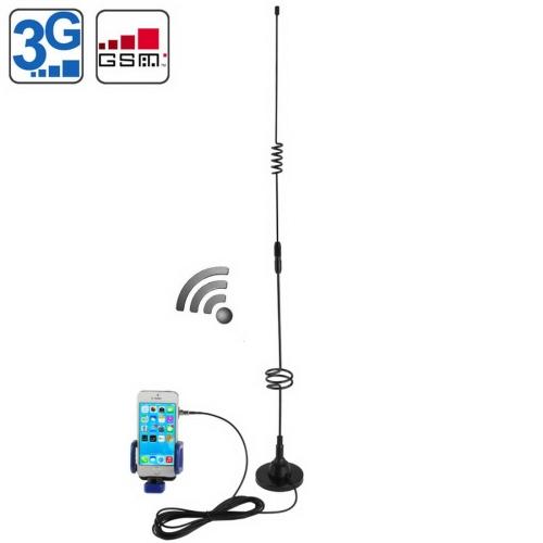 Buy 11dBi FME Antenna (3G+GSM+CDMA) & Antenna Coupler Mobile Phone Universal Holder, Black for $11.33 in SUNSKY store