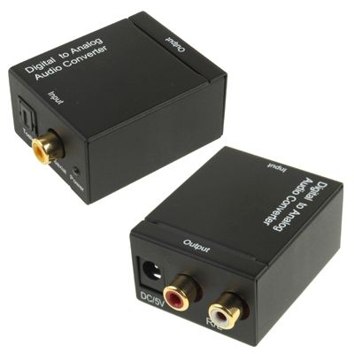 Digital Optical Coaxial Toslink to Analog RCA Audio Converter(Black) фото