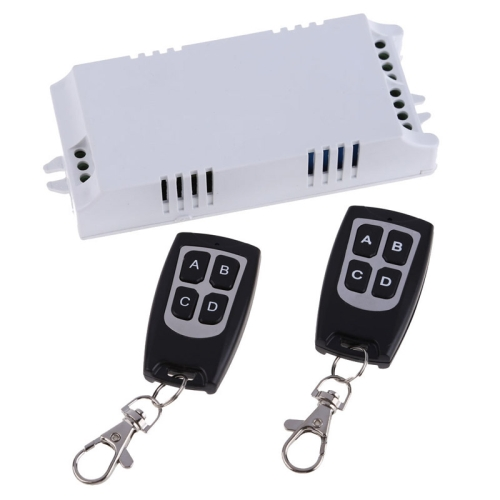 Buy AC 85V-260V 4CH Remote Switch Learning Code Receiver + 4 Buttons Waterproof Remote Control 315MHz Transmitter for $13.22 in SUNSKY store
