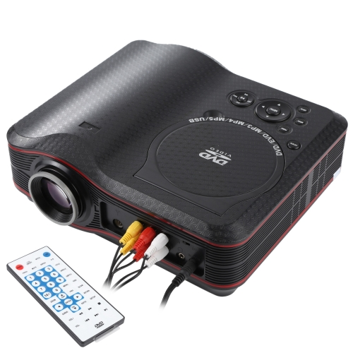 Buy Portable DVD Projector with TV Receiver Function (PAL / NTSC / SECAM), AV IN / OUT and Game Function, Support SD / MMC Card / USB Flash Disk for $131.51 in SUNSKY store