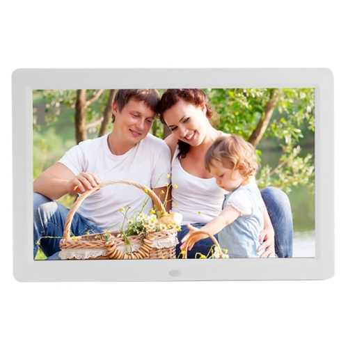Buy 12 inch LED Display Multi-media Digital Photo Frame with Holder & Music & Movie Player, Support USB / SD / Micro SD / MMC / MS / XD Card Input, White for $58.84 in SUNSKY store