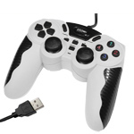Buy USB 12 Button Double Shock Game Pad, Plug and Play, White for $4.83 in SUNSKY store