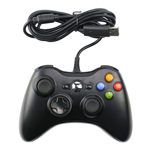 USB 2.0 Wired Controller Gamepad for XBOX360, Plug and Play, Cable Length: 2.5m(Black) фото