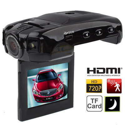 Buy ZH-880 Black, 2.0 inch TFT LCD Screen 1280x720P Car Style Vehicle DVR, Support Loop Recording / Infrared Night Vision / Anti-shake / Motion Detection / TF Card / HDMI / USB Output, 4X Digital Zoom, Wide Angle: 120 Degrees, Lens Rotation Angle: 180 Degrees, Display Rotating: 270 Degrees for $39.07 in SUNSKY store