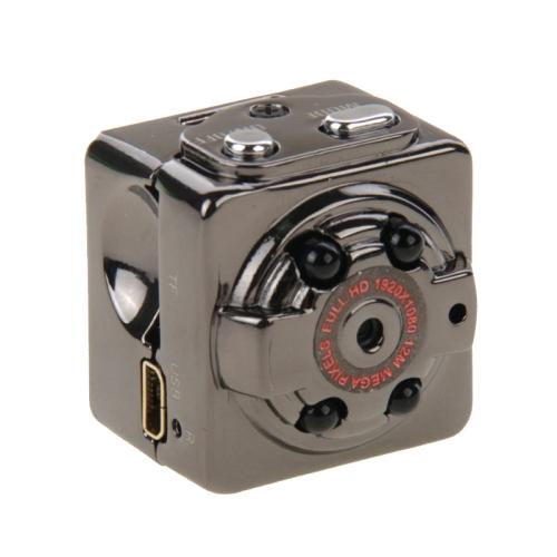 SQ8 Full HD 1080P 30fps Pocket Digital Video Recorder Camera Camcorder Ultra-Mini Metal DV with IR Night Vision,, Support Motion Detecting