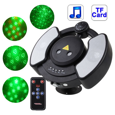 Buy Disco Laser Player Music Player Party Stage Lighting with Remote Control, Support TF Card, Black for $38.44 in SUNSKY store