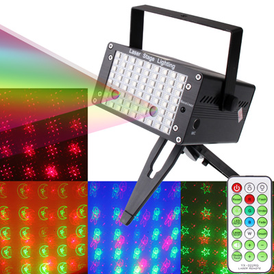 Buy YX-022 Black, 3-color LED Multifunction Disco DJ Club Holographic Laser Star Projector with Remote Controller & Holder, Support Sound Active Function (Star / Moon / Butterfly / Heart Pattern) for $35.46 in SUNSKY store