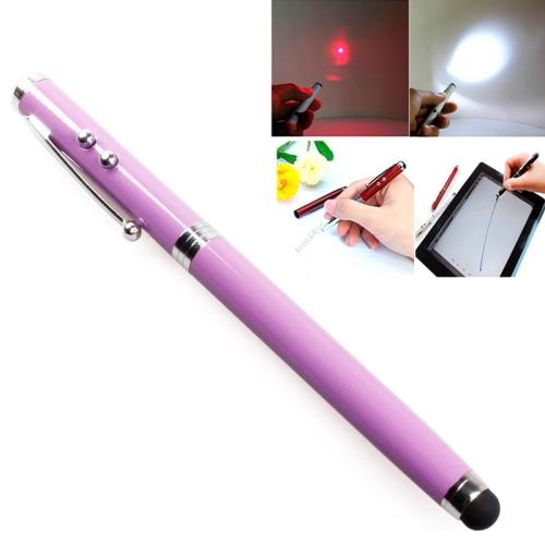 Buy 4 in 1 Multifunction Pen: Capacitive Stylus Pen + Ball Pen + Red Laser Pointer + White LED Flashlight, Purple for $1.25 in SUNSKY store