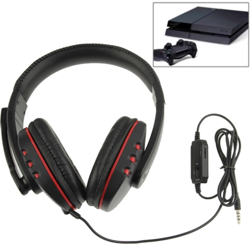 Universal Wired Gaming Headset Earphone with Mic and Volume Control for PS4 (3.5m)(Black)