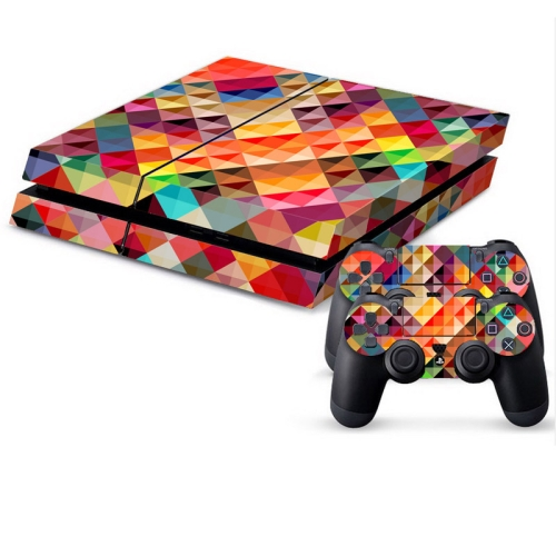 Buy Color Grid Pattern Protective Skin Sticker Cover Skin Sticker for PS4 Game Console for $4.53 in SUNSKY store