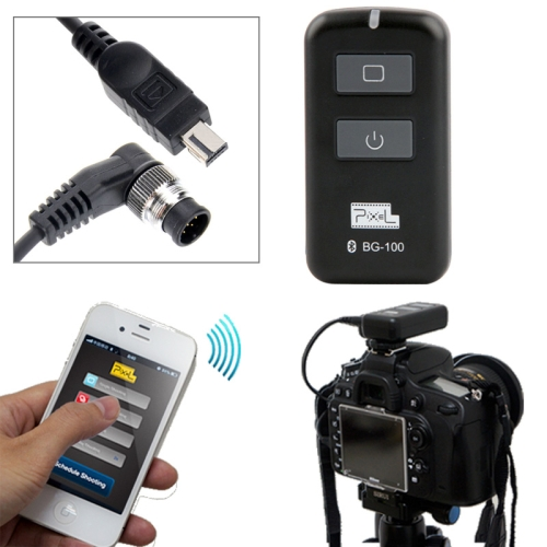 Buy Pixel Bluetooth Timer Remote Control for Nikon D800 / D700 / D300 / D2 / D1 / F5 / F6 / F100 / F90 / F90X / D3s / DSLR D7100 / D7000 / D5100 / D5000 (BG-100 / DC0, DC2) for $26.99 in SUNSKY store