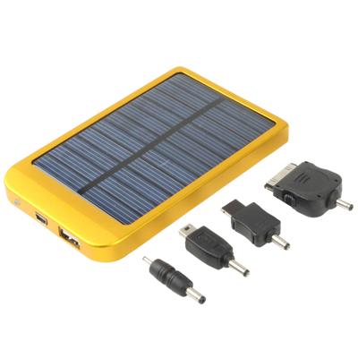 Buy Solar Energy Charger for iPhone / iPad / iPod touch, MP3 / MP4, Digital Camera and other Mobile Phone, Solar Panel: 0.7W / 0.4W, Built-in Lithium Battery: 2600mAh, Yellow for $8.62 in SUNSKY store