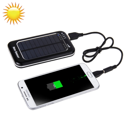 Buy 3500mAh Solar Energy Charger for iPhone / iPad / iPod Touch, MP3 / MP4, Digital Camera and other Mobile Phone, Black for $8.22 in SUNSKY store