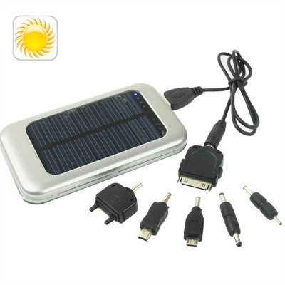 Buy 3500mAh Solar Energy Charger for iPhone / iPad / iPod Touch, MP3 / MP4, Digital Camera and other Mobile Phone, Silver for $8.22 in SUNSKY store