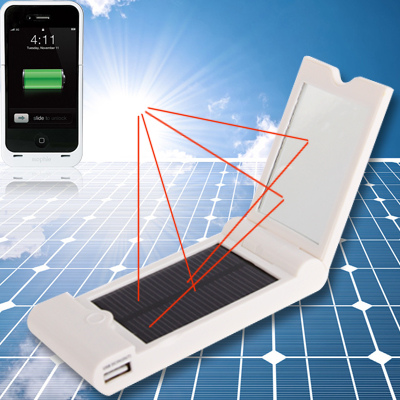 Buy 3.7V 1200mAh Solar Charger for iPhone / Mobile Phone / MP3 / MP4 / Digital Camera for $9.74 in SUNSKY store