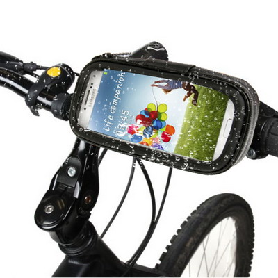 Bike Mount & Waterproof / Sand-proof / Snow-proof / Dirt-proof Tough Touch Case for iPhone 6 4.7inch, Samsung Galaxy S IV / i9500, Galaxy S III / i9300, Nokia N920, Black