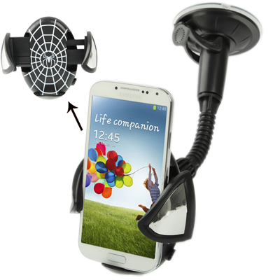 Buy Universal Car Stretch Mobile Phone Holder for Samsung Galaxy S IV / i9500 / Galaxy S III / i9300 / N7100 / iPhone / Z10 / HTC / Nokia / Other Mobile Phone, Width: 45-95mm for $2.07 in SUNSKY store