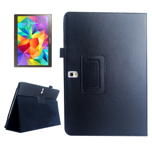Buy Lichee Texture Horizontal Flip Leather Case with Holder for Samsung Galaxy Tab S 10.5 / T800, Black for $2.55 in SUNSKY store