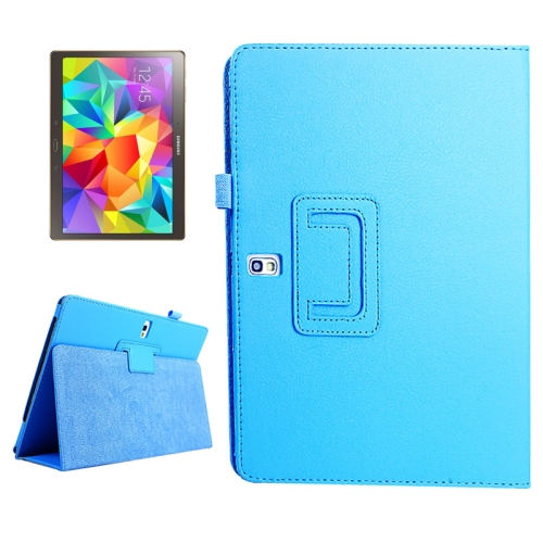 Buy Lichee Texture Horizontal Flip Leather Case with Holder for Samsung Galaxy Tab S 10.5 / T800 (Baby Blue) for $2.55 in SUNSKY store