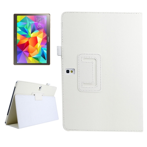 Buy Lichee Texture Horizontal Flip Leather Case with Holder for Samsung Galaxy Tab S 10.5 / T800, White for $2.55 in SUNSKY store