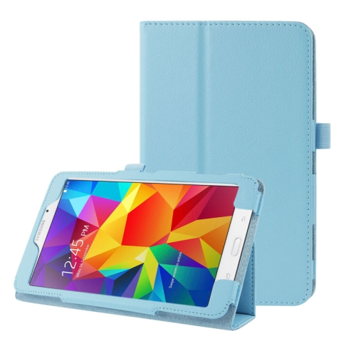 Buy Litchi Texture Flip Leather Case with Holder for Samsung Galaxy Tab 4 7.0 / T230 / T231 / T235, Blue for $2.35 in SUNSKY store