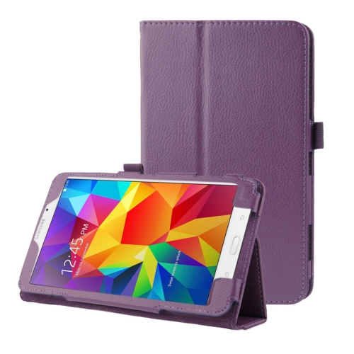 Buy Litchi Texture Flip Leather Case with Holder for Samsung Galaxy Tab 4 7.0 / T230 / T231 / T235, Purple for $2.33 in SUNSKY store