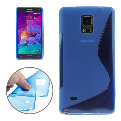 Buy S Line Anti-skid Frosted TPU Protective Case for Samsung Galaxy Note 4, Blue for $1.27 in SUNSKY store