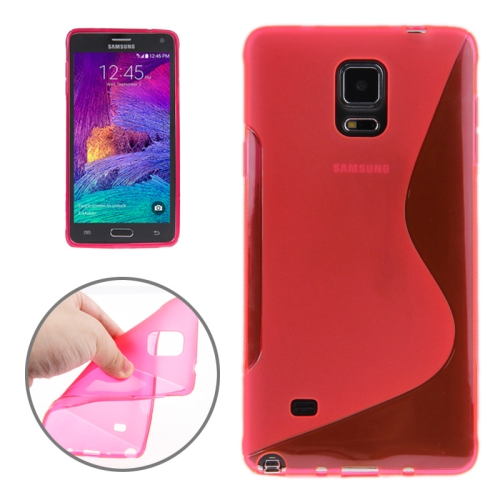 Buy S Line Anti-skid Frosted TPU Protective Case for Samsung Galaxy Note 4, Magenta for $1.27 in SUNSKY store