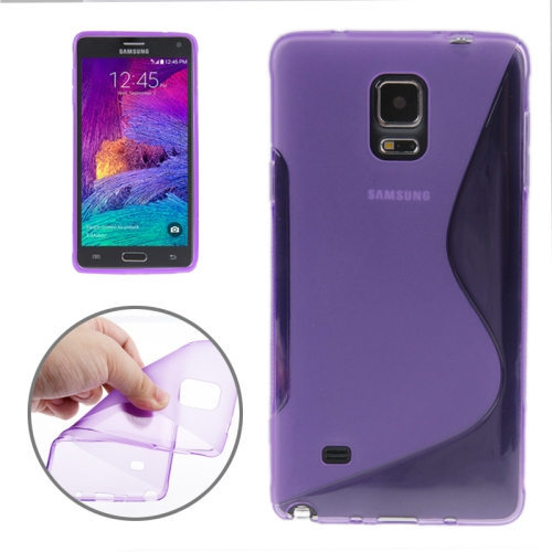 Buy S Line Anti-skid Frosted TPU Protective Case for Samsung Galaxy Note 4, Purple for $1.27 in SUNSKY store