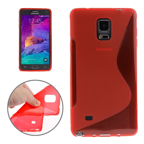 Buy S Line Anti-skid Frosted TPU Protective Case for Samsung Galaxy Note 4, Red for $1.27 in SUNSKY store