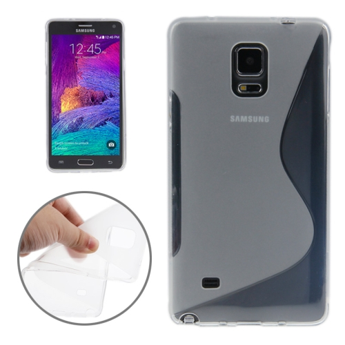 Buy S Line Anti-skid Frosted TPU Protective Case for Samsung Galaxy Note 4, Transparent for $1.27 in SUNSKY store