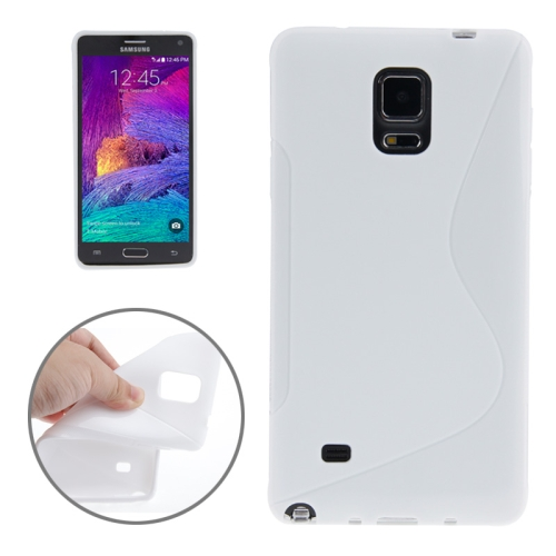 Buy S Line Anti-skid Frosted TPU Protective Case for Samsung Galaxy Note 4, White for $1.27 in SUNSKY store