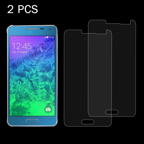 Buy 2 PCS for Samsung Galaxy Alpha / G850F 0.26mm 9H Surface Hardness 2.5D Explosion-proof Tempered Glass Screen Film for $1.25 in SUNSKY store