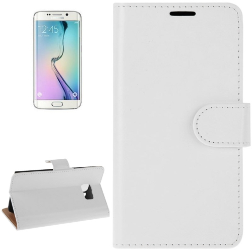Buy For Samsung Galaxy S6 Edge Crazy Horse Texture Horizontal Flip Magnetic Buckle Leather Case with Card Slots & Wallet & Holder, White for $2.00 in SUNSKY store