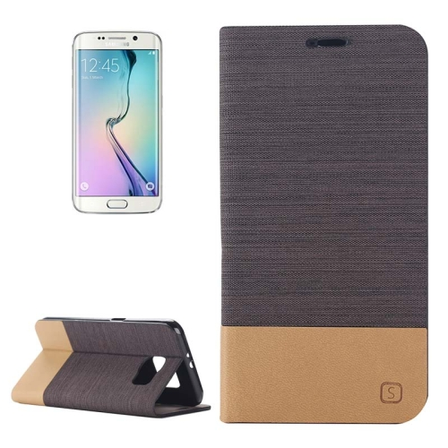 Buy For Samsung Galaxy S6 Edge Horizontal Flip Canvas Leather Case with Card Slot & Holder, Coffee for $2.36 in SUNSKY store