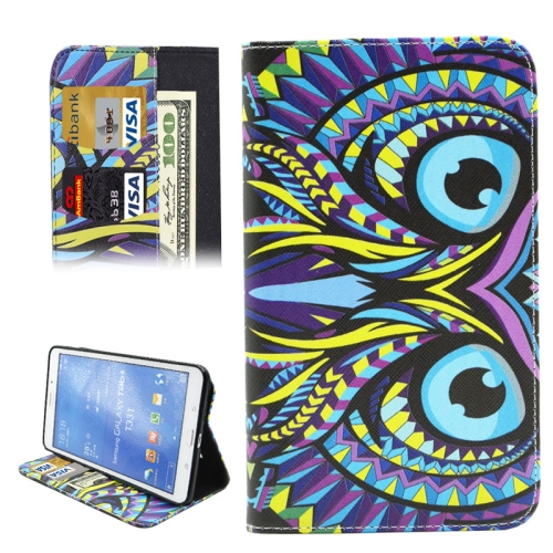 Buy Colorful Cartoon Owl Pattern Horizontal Flip Leather Case with Holder & Card Slots & Wallet for Samsung Galaxy Tab 4 8.0 / T330 for $4.74 in SUNSKY store
