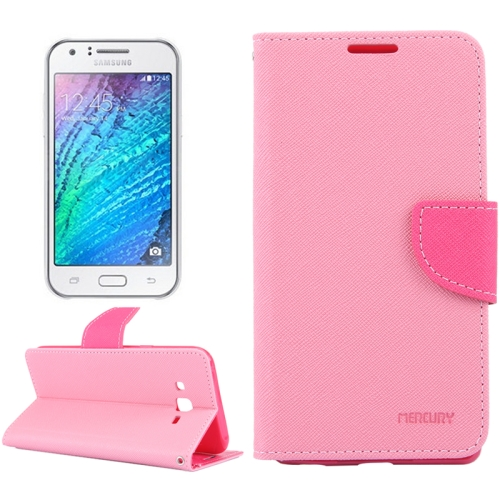 Cross Texture Horizontal Flip Leather Case with Holder & Card Slots & Wallet for Samsung Galaxy J5, Pink