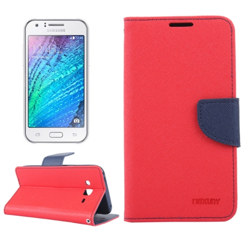 Buy Cross Texture Horizontal Flip Leather Case with Holder & Card Slots & Wallet for Samsung Galaxy J5, Red for $2.16 in SUNSKY store