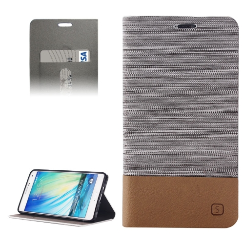 Buy Horizontal Flip Canvas Leather Case with Card Slot & Holder for Samsung Galaxy A5 / A500, Gray for $2.41 in SUNSKY store