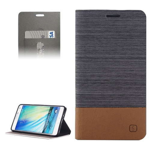 Buy Horizontal Flip Canvas Leather Case with Card Slot & Holder for Samsung Galaxy A5 / A500 (Dark Gray) for $2.41 in SUNSKY store