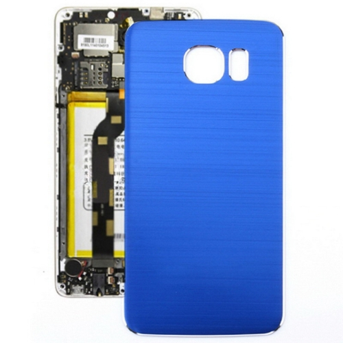 Buy Metal Wire Drawing Replacement Battery Back Cover for Samsung Galaxy S6 (Dark Blue) for $2.66 in SUNSKY store