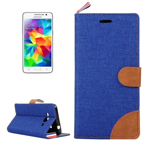 Buy Denim Texture Horizontal Flip Leather Case with Card Slots & Holder & Lanyard for Samsung Galaxy Grand Prime / G530 / G5308W, Blue for $2.48 in SUNSKY store